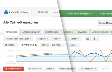 Neues AdWords Design