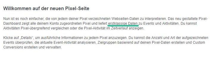 Facebooks neues Pixel Dashboard