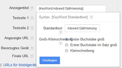 Keyword-Insertion
