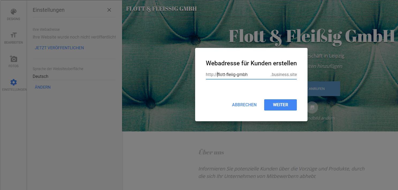 MyBusiness Website URL