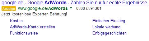 AdWords Anzeige