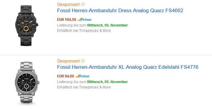 Amazon-Suche gesponserte Produkte
