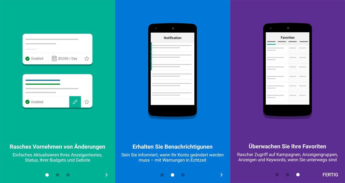 Bing Ads App Dienste