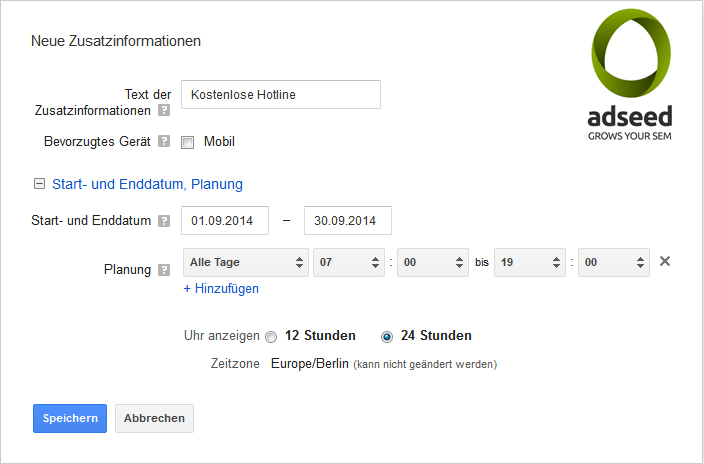 Callout Extensions Funktionen