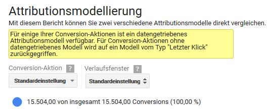 Datengetriebenen Attribution