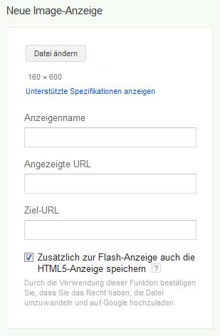 Display Anzeigen HTML5