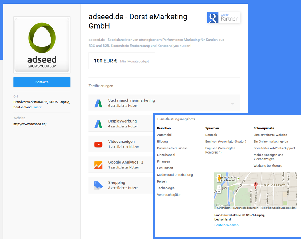 Google Partner Profil
