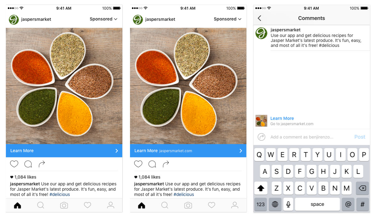Neue Instagram Call-to-Actions