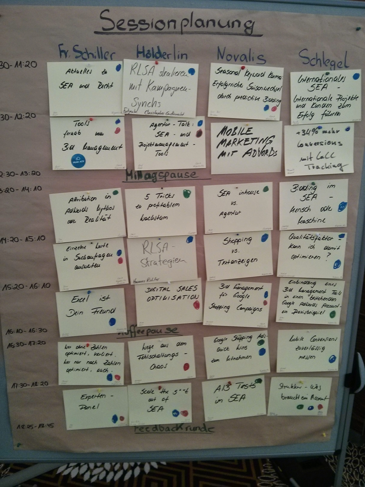 SEAcamp 2015 Sessionplanung