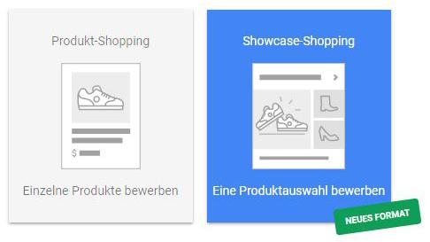 Google Shopping Anzeigenübersicht