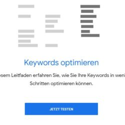 Keyword Planer Keywords optimieren