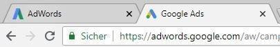 Aus Google AdWords wird Google Ads