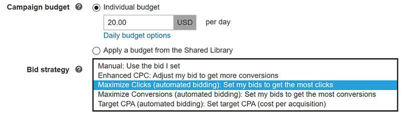 Bing Ads Max Clicks