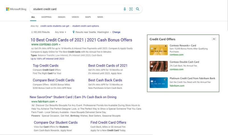 Kreditkarten Ads