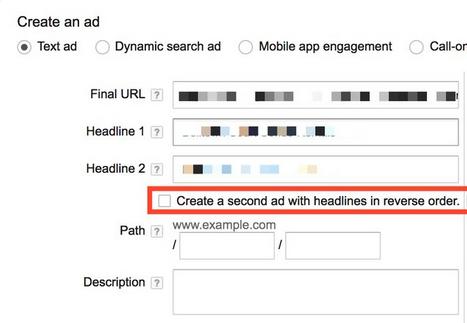 AdWords Headline Test