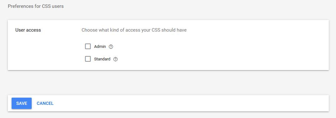 CSS User im Merchant Center