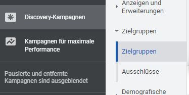 Optimierte Ausrichtung in Discovery Kampagnen und Video-Aktionskampagnen