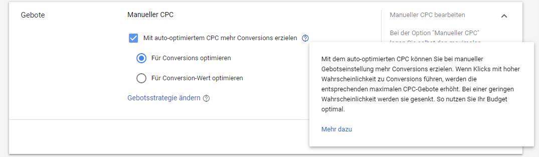 Der auto-optimierte CPC im Google Ads Suchnetzwerk