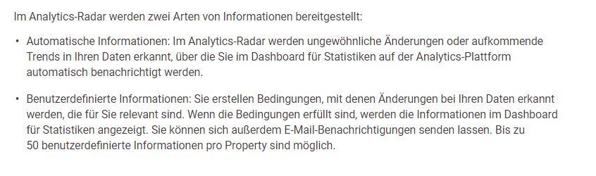Google Analytics Insight Radar