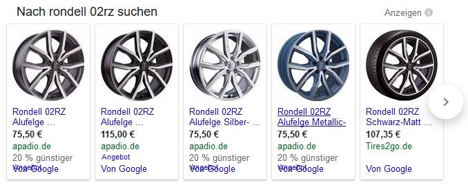 Google Shopping Preiserweiterungen