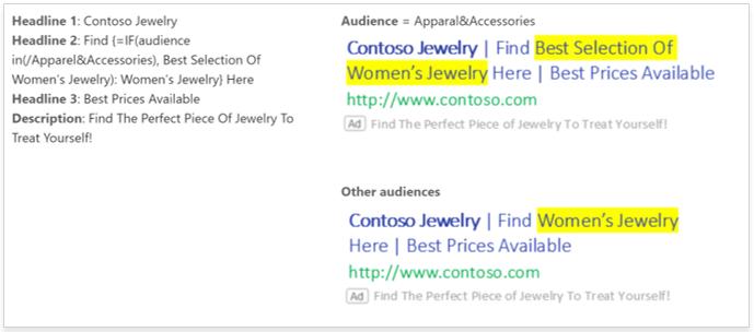 IF-Funktion Microsoft Ads Beispiel