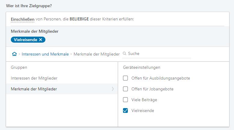 LinkedIn-Zielgruppen-Merkmale