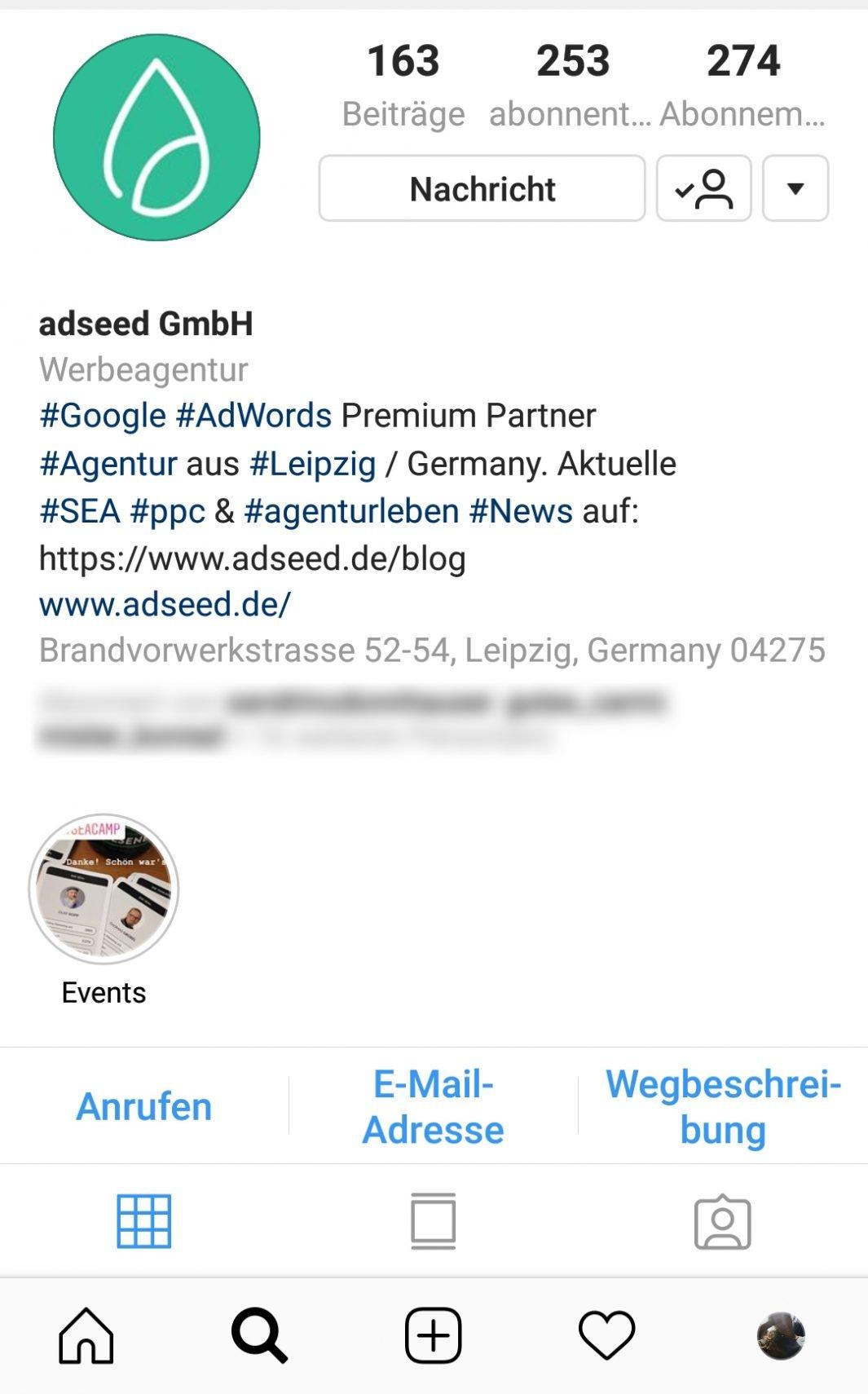 Instagram Profil alt