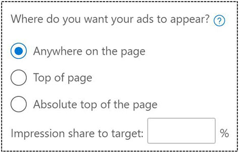Target Impression Share Gebotsstrategie bei Microsoft Advertising