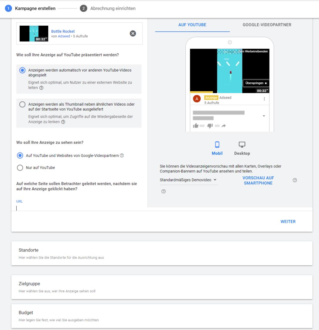 Youtube Select im Test von adseed - Auswahl eines Youtube Videos für die Werbung mit Google Ads