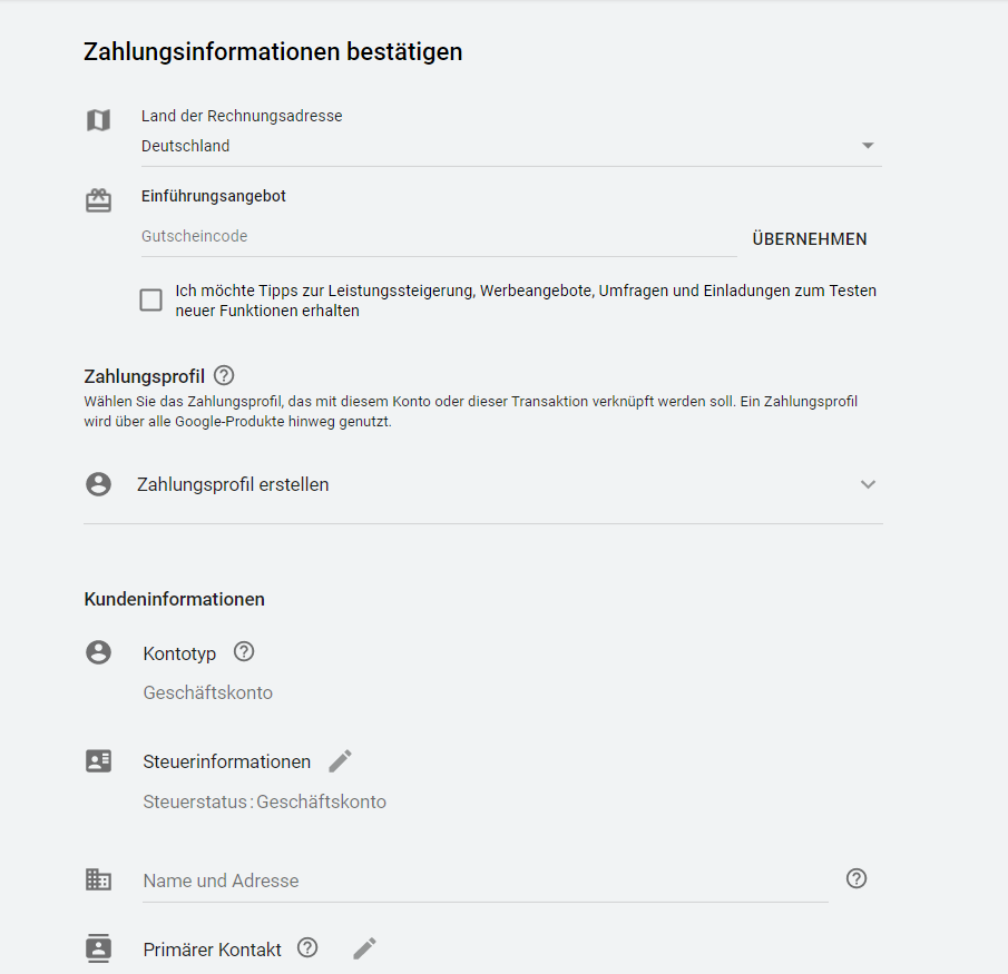 Youtube Select im Test von adseed - Youtube Select Zahlungsprofil