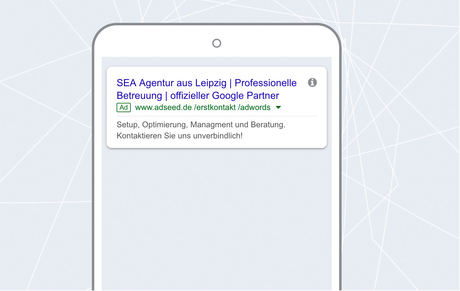 adseed - Google Ads Anzeige Mobil