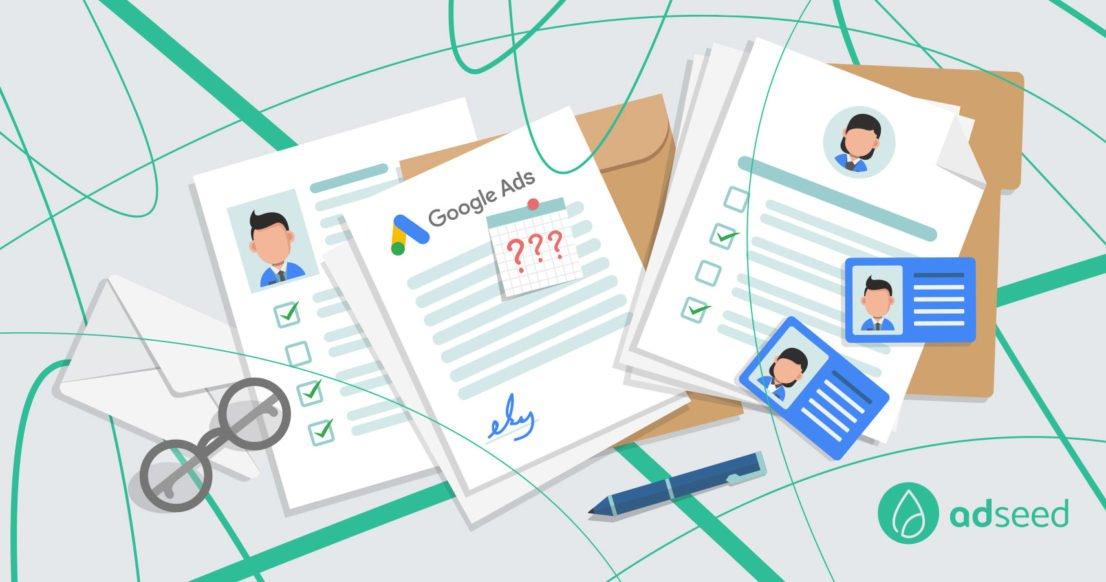 adseed - Google Ads Identitätsbestätigung