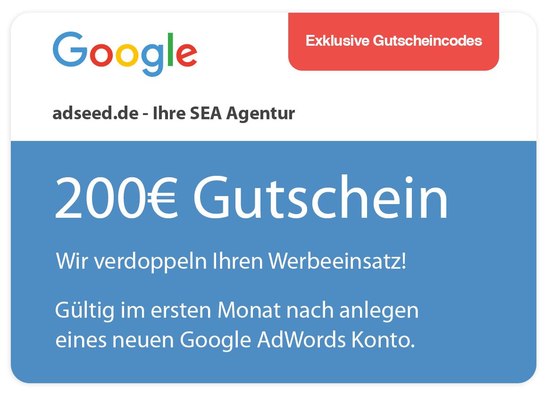 adseed: Google AdWords Gutschein