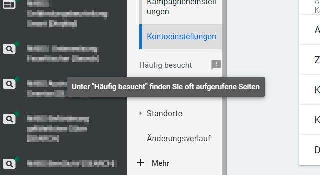 Google Ads Online Oberfläche