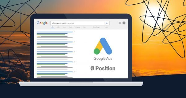 adseed - Google Ads durchsch. Position Adé