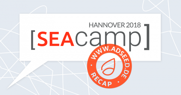 adseed - SEAcamp 2018 Recap