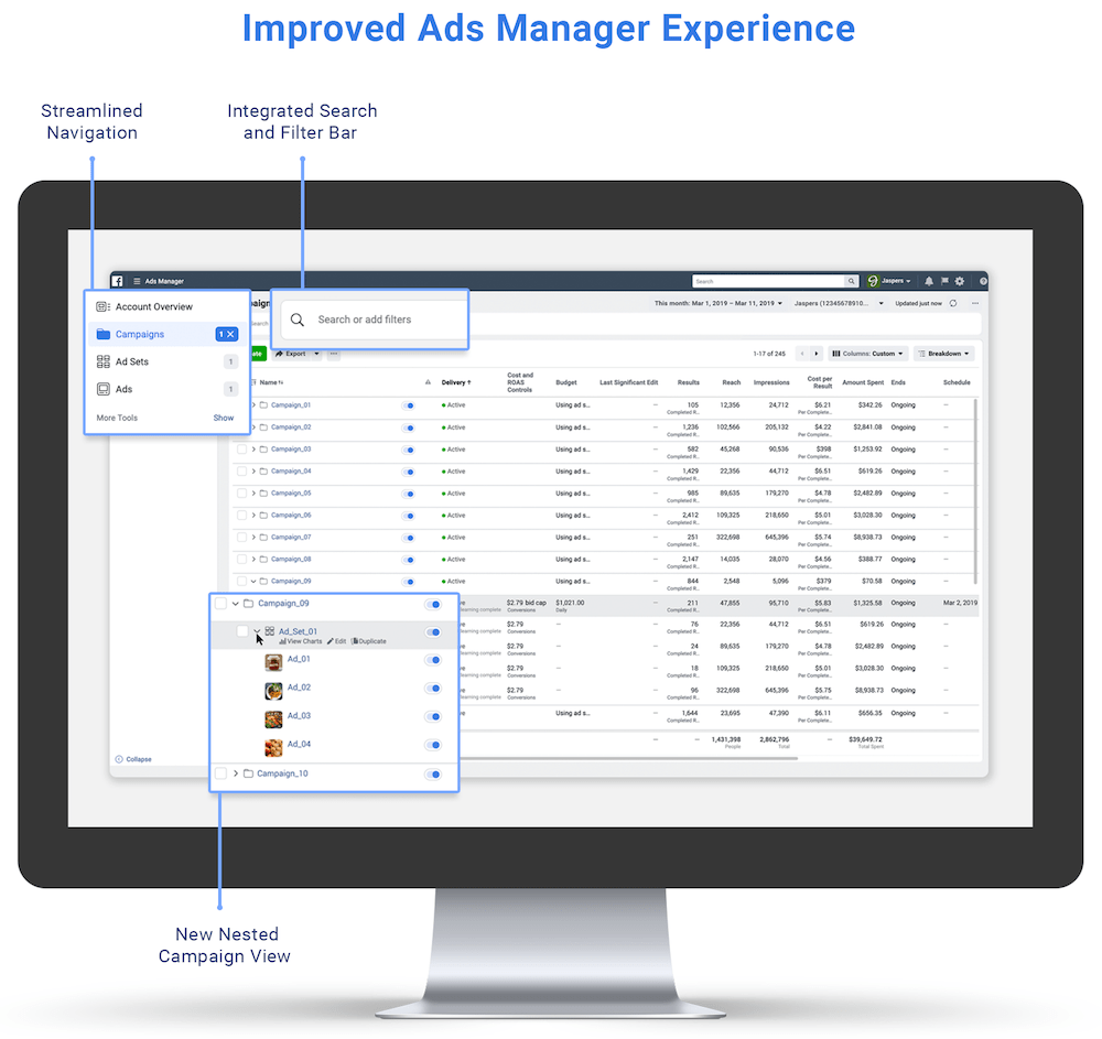 Facebook Improve Ads Manager Experience