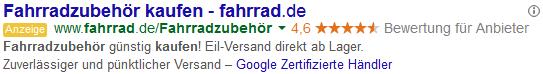 adseed - Google zertifizierte Händler Anzeige