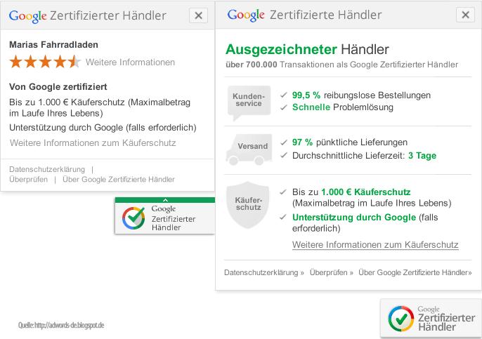 adseed - Google zertifizierte Händler Darstellung