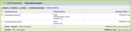 adseed - AdWords Kampagnen