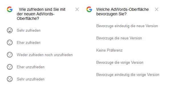 Adwords UI Feedback