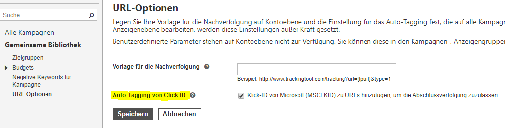 Bing Ads - Conversion Tracking - Autotagging