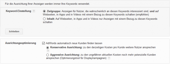 display_keyword_default_einstellung