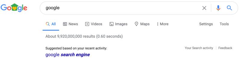 Google Suggest mit Interessen