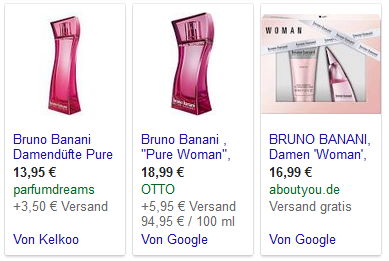 Google Shopping Plattformen