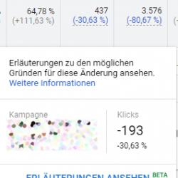 Erläuterungen Google Ads