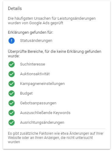 Google Erklärungen Beta keine Erklärung gefunden