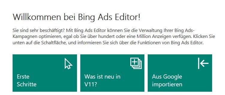 Bing Ads Editor Update