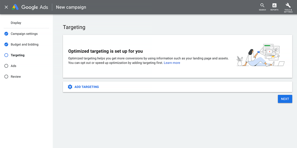 Optimiertes Targeting in den neuen Display-Kampagen