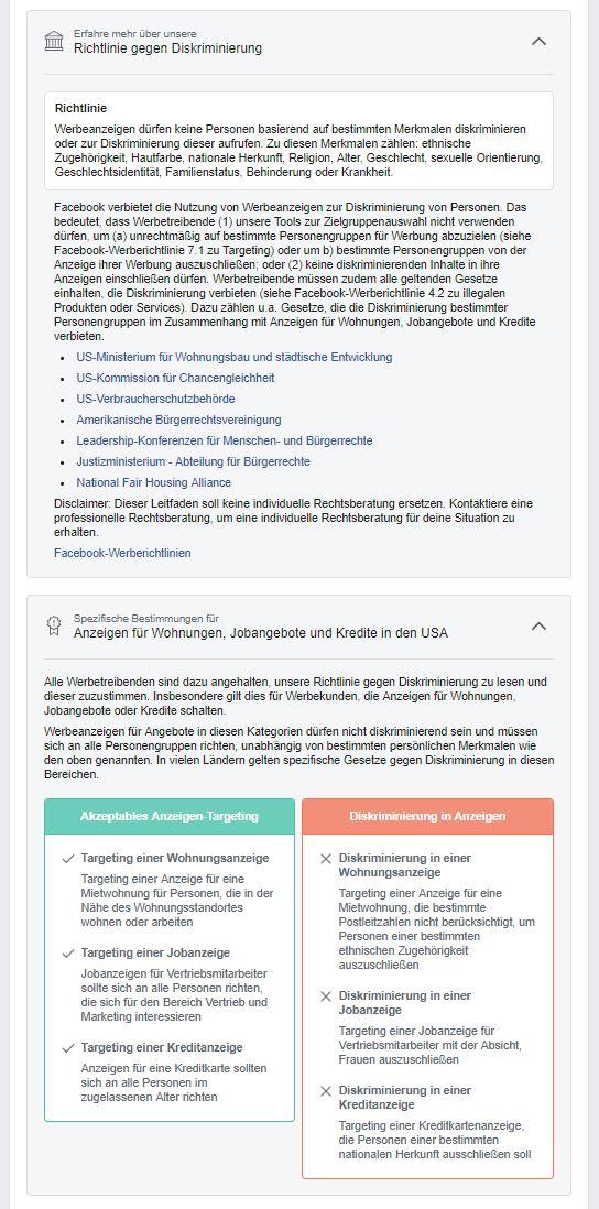 Facebook Richtlinien Zustimmung